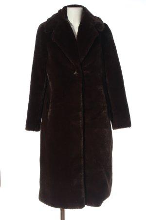 XLE Abrigo de piel marrón look casual