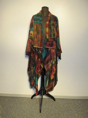 *TEXTILKUNSTATELIER EIGENART*    Offener Mantel       Kunst zun Anziehen       HANDGEMALTES SEIDENUNIKAT      NEU