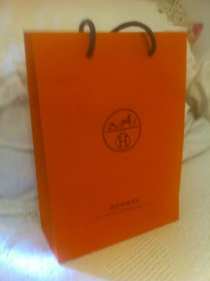 Hermès Shopping Trolley neon orange mixture fibre