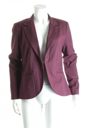 XNK Basic Kurz-Blazer bordeauxrot Street-Fashion-Look
