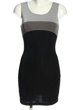 xoxo Minikleid schwarz-hellgrau Streifenmuster Casual-Look