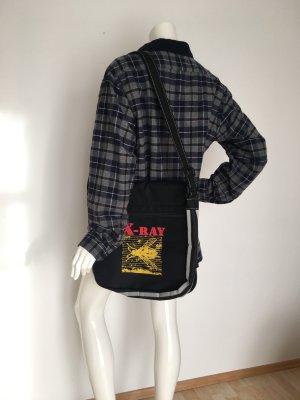 Xray  Biene fliege Röntgen Tasche bag Uni Schule Strahlung  Umhängetasche schwarz gelb rot