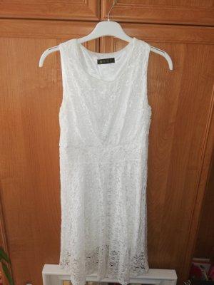 XS 32 34 ärmelloses Kleid weiß