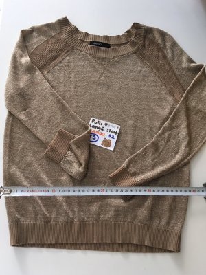 XS 32- 34 Pulli langärmliges Shirt gold Mango