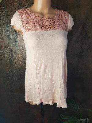 XS blutsgeschwister nude shirt romantisch