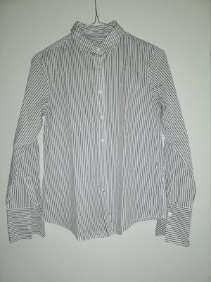 XS Hemd Bluse Mango weiß schwarz gestreift