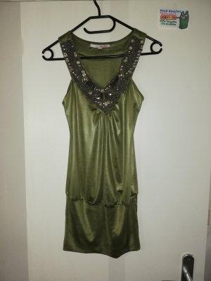 XS S Kleid grün ärmellos Tally Weijl
