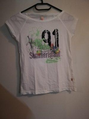 XS T Shirt weiß grün S. Oliver