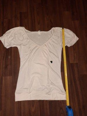 XS t shirt weiß mit herz H&M