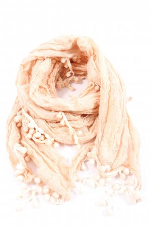 Xside Fringed Scarf cream casual look