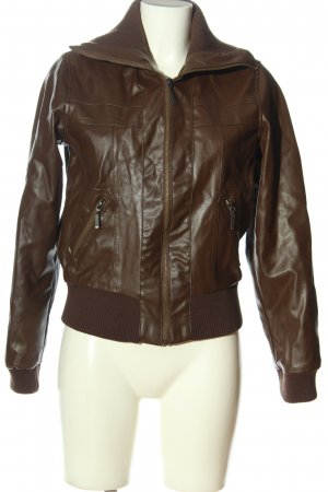 Xside Faux Leather Jacket brown casual look