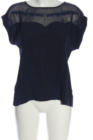 Xside Short Sleeved Blouse blue elegant