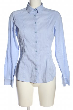 Xside Long Sleeve Shirt blue-white allover print business style