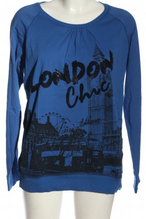 Xside Print Shirt blue-black printed lettering casual look