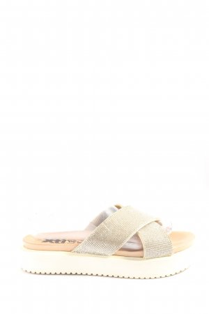 Xti Beach Sandals gold-colored casual look