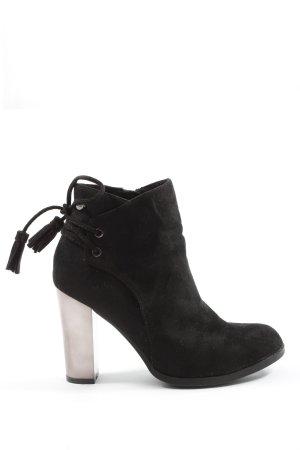 Xti Reißverschluss-Stiefeletten schwarz Motivdruck Casual-Look