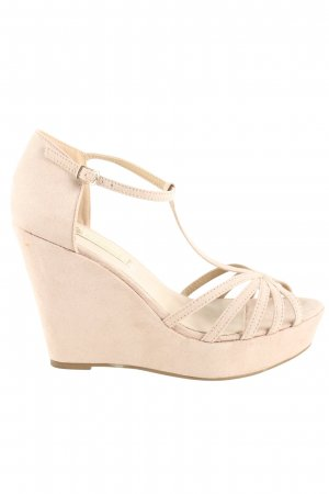 Xti Wedge Sandals nude casual look