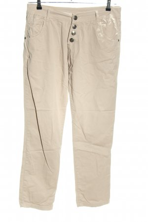 xtsy Chinohose creme Casual-Look