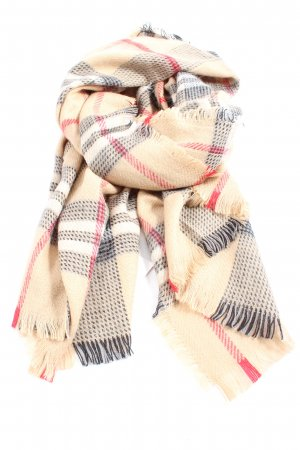 Xuna Fringed Scarf check pattern casual look