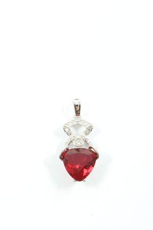 Xuping Medaglione argento-rosso elegante