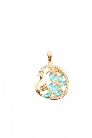 Xuping Medaglione oro-turchese elegante