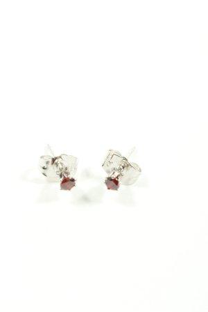 Xuping Orecchino a vite argento-rosso elegante