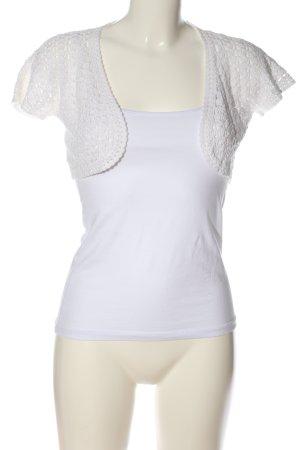 XX BY MEXX Bolerko biały Warkoczowy wzór W stylu casual