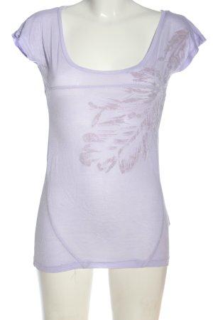 XX BY MEXX T-shirt violet motif de fleur style décontracté