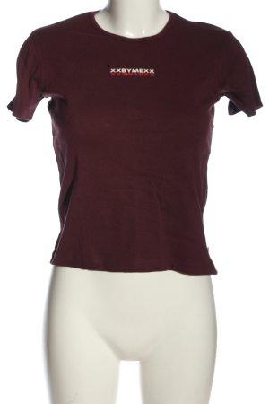 XX BY MEXX T-shirt imprimé rouge lettrage imprimé style décontracté