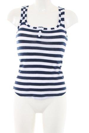 XX BY MEXX Camiseta sin mangas azul-blanco estampado a rayas look casual
