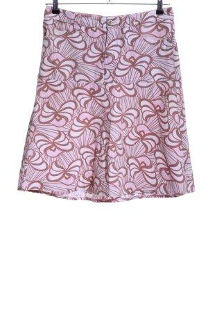 XX BY MEXX Tellerrock pink-braun abstraktes Muster Casual-Look