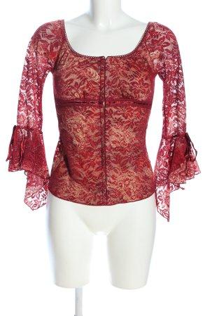 xxi Corsage Top red flower pattern elegant