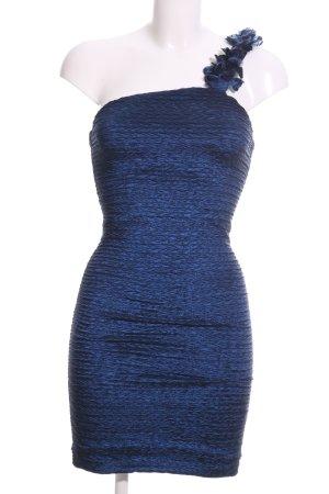 xxi Minikleid blau Streifenmuster extravaganter Stil
