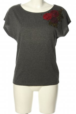 xxi T-Shirt hellgrau meliert Casual-Look