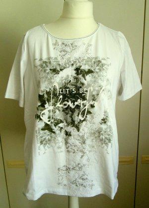 Bonita Camicia fantasia bianco-verde oliva Cotone