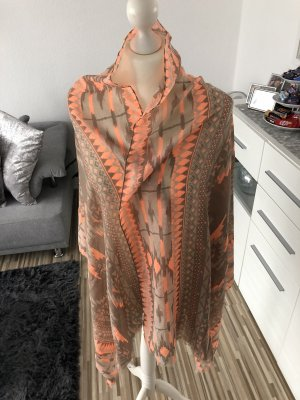 xxl chiffontuch in orange braun