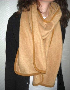 XXL Double Face dicker Schal Schlauch wollig weich warm camel braun Winterschal