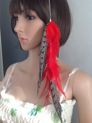 Hair Clip dark red-black