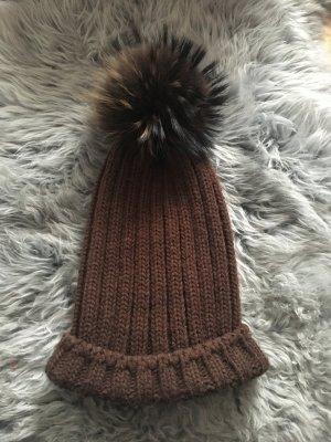 E-braun Sombrero de piel multicolor
