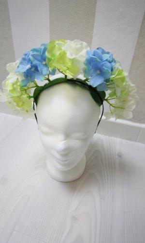 Cerchietto per capelli azzurro-bianco