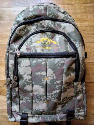 Trekking Backpack multicolored mixture fibre