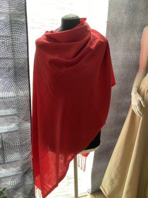Écharpe à franges rouge brique
