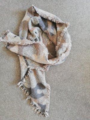 Gebreide sjaal grijs-rosé