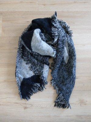 XXL Schal Tuch grau schwarz H&M Neu