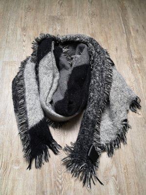 XXL Schal Tuch H&M grau schwarz 240 x 65 cm