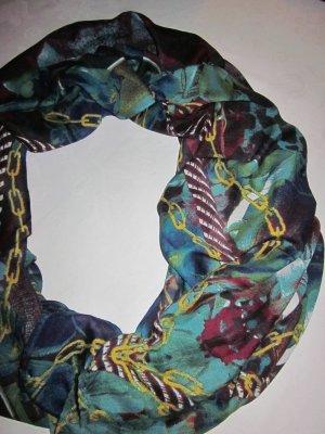 XXL Schal Tuch scarf Schlauch Rundschal Ketten Motiv Print NEU Loop bunt blau grün bordeaux rot