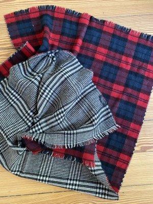 Zara Accesoires Bufanda de lana rojo-blanco