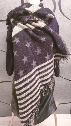 XXL Schaltuch, Stars & Stripes, kuschelig, weich, warm