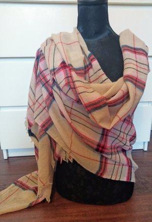 Marc O'Polo Bufanda de lana crema-rojo