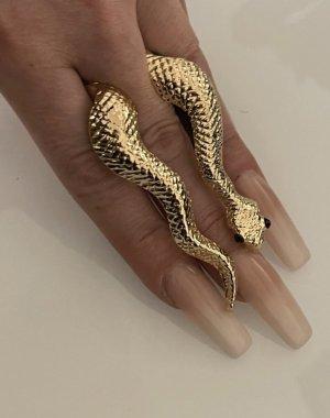 xxl statementring in gold schlange snake